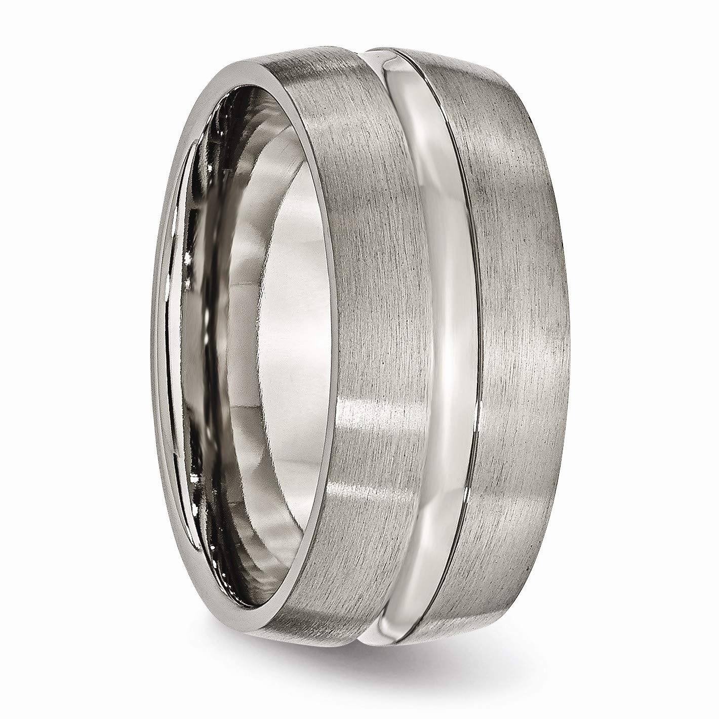 The Black Bow Titanium 10mm Center Grooved Band