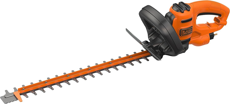Black+Decker behts301-qs corta-setos con cable ergonomía Guardia translúcido óptimo y equilibrio, 500W, 50cm