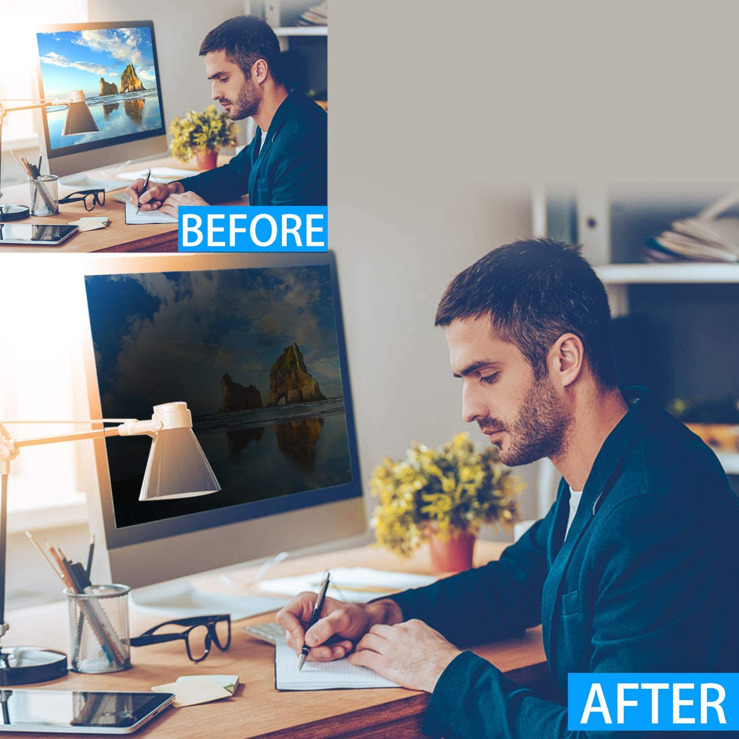 Please Measure Carefully! 23 Inch Privacy Screen Filter for Widescreen Monitor 16:9 Aspect Ratio