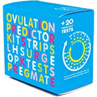 PREGMATE 100 Ovulation and 20 Pregnancy Test Strips Predictor Kit (100 LH + 20 HCG)