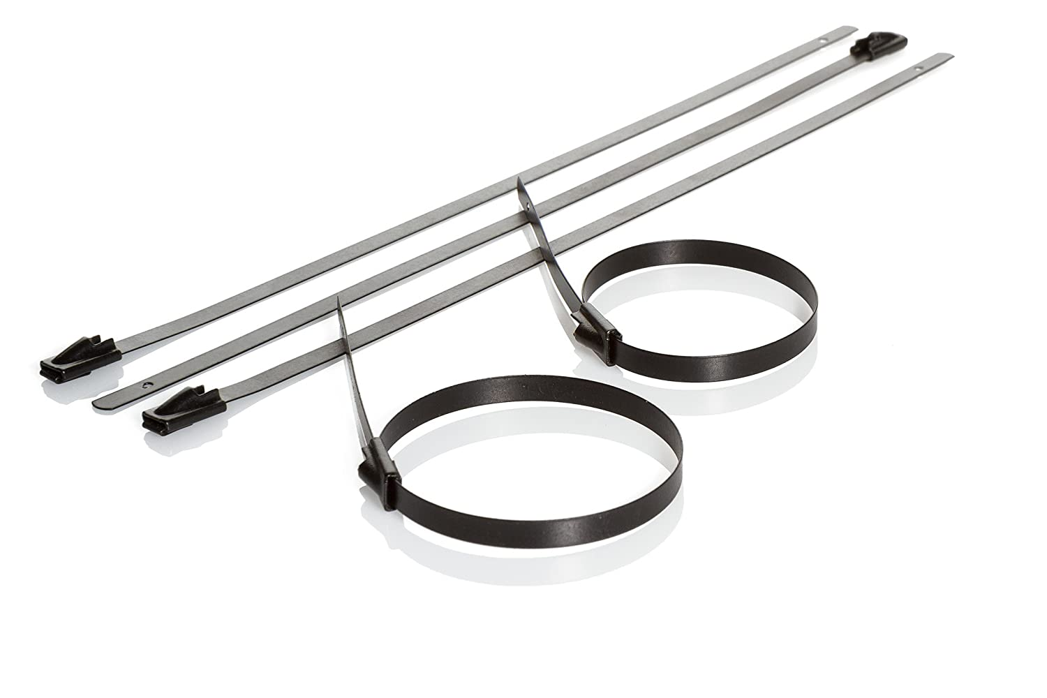 5986e13d83ce Partex Stainless Steel Cable Ties (Black) 100 x 4.6mm, pack of 100:  Amazon.co.uk: DIY & Tools