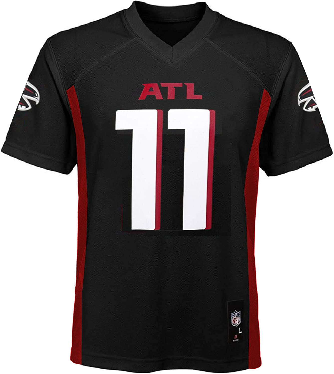 Outerstuff Julio Jones Atlanta Falcons NFL Boys Youth 8-20 Black Home Mid-Tier Jersey