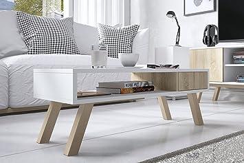 Vero Wood - Couchtisch / Beistelltisch mit Ablage und Schublade ...