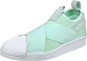 buy online d2ef6 61072 adidas Women s Superstar Slip On S76407 Trainers, Mint Green White, ...