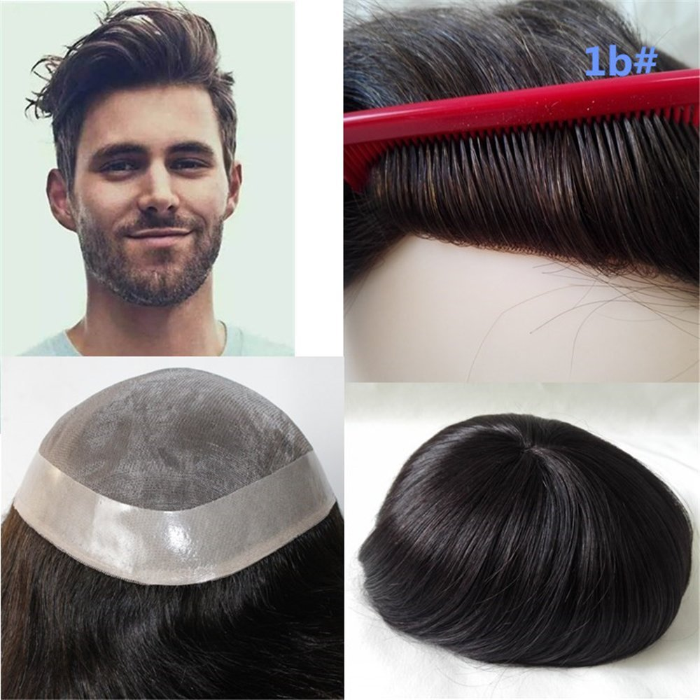 Lumeng Wigs For Men Hairpiece Mono Lace Systems Mens Toupee Size 8x10 Inch 7x9inch 3# Rizhao Lumeng Beauty Co. Ltd.