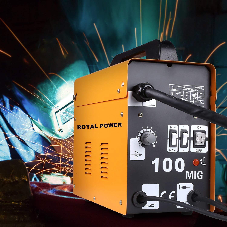 Poste /à souder /à fil continu sans gaz MIG 100 A 230V ROYAL POWER