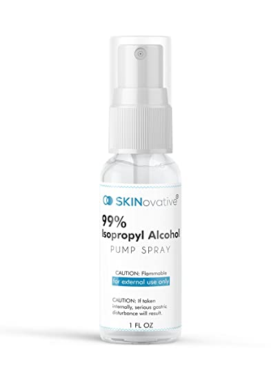 Amazon SKINovative 99 Isopropyl Alcohol Spray 1 Oz Derma Roller Sterilizer