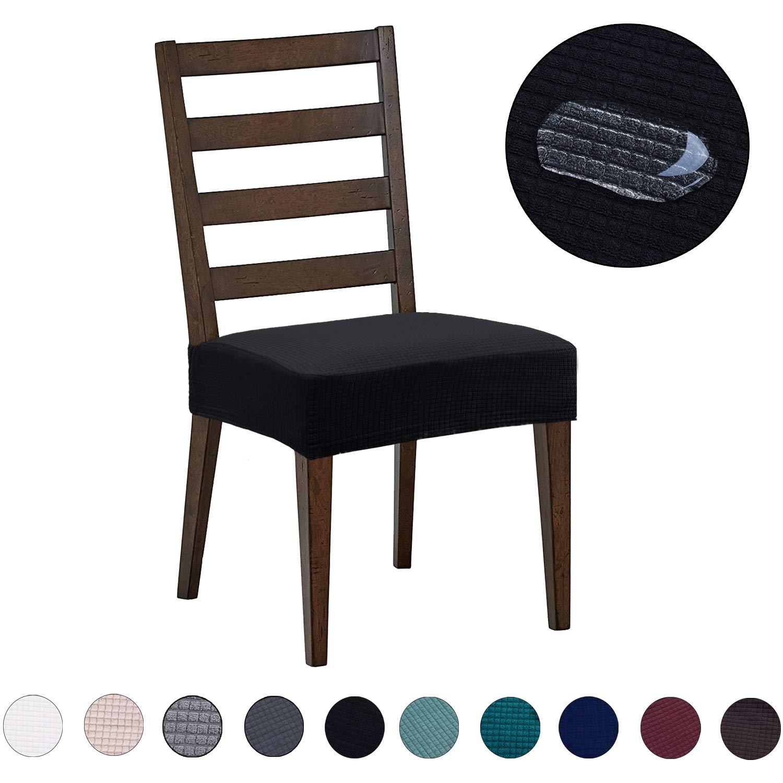 DEZENE ソファカバー ダイニングチェアカバー ソファアームカバー カーテン Dining Chair(4 Pack) ブラック YZZDT-BK4 Dining Chair(4 Pack) ブラック B07NY1ZPBZ