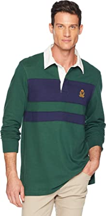 8128ae6a84b Chaps Men's Cotton Rugby Polo Vintage Pine Multi Small at Amazon Men's  Clothing store: