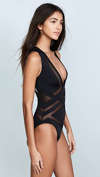 3cd2c0aac5 OYE Swimwear Women's Bane Deep V One Piece at Amazon Women's Clothing store:
