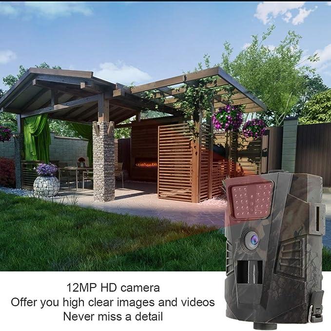 Trail Game Camera, 12MP 1080P HD Led RIP impermeable Cámara de ...
