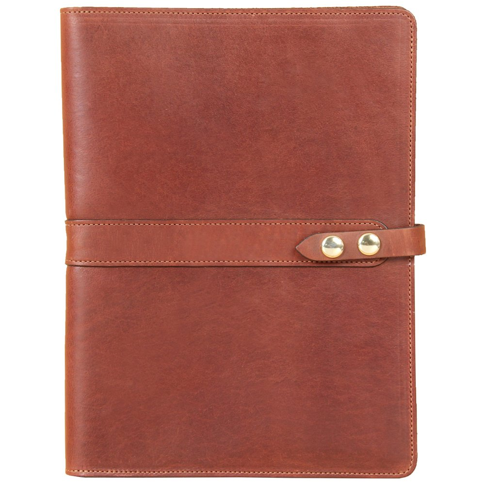 Leather Business Portfolio Case for Tablets iPad Folio Brown USA Made Full-Grain No. 18