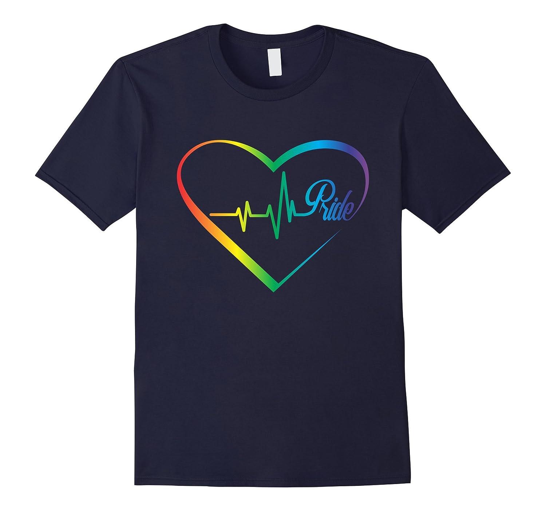 Lgbt Gay Homosexual Lesbian Rainbow Heart Pride T-Shirt-Vaci
