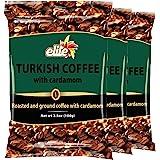 Elite Turkish Coffee with Cardamom, 3.5 oz (3 Pack)