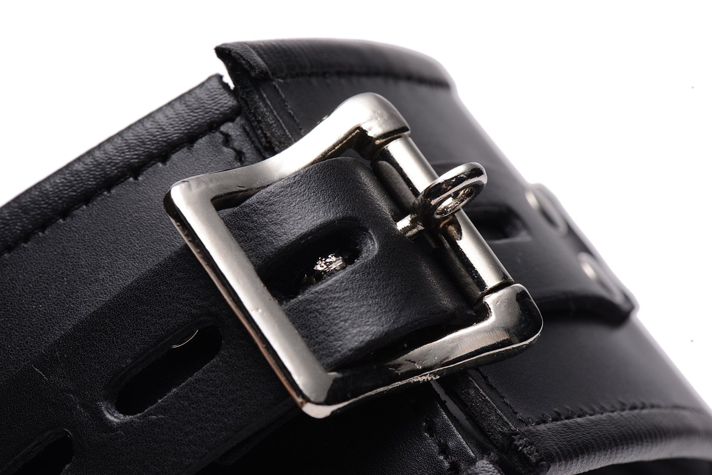 Strict Leather Padded Leather Locking Posture Collar by Strict Leather