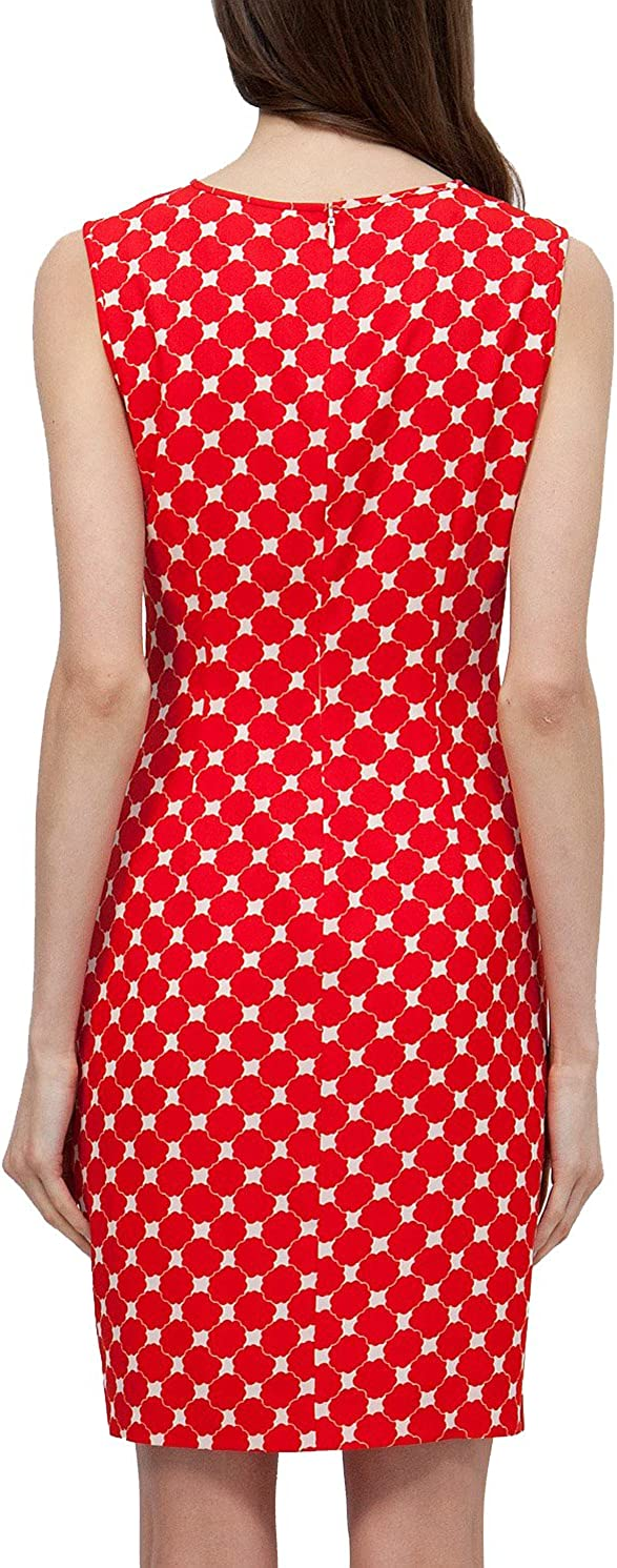 JWS GROUP Womens Vintage Print Dress