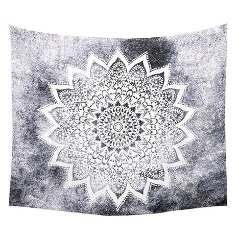 Dontdo geométrico flor impresa toalla de playa manta de colgar en la pared Tapiz para pared
