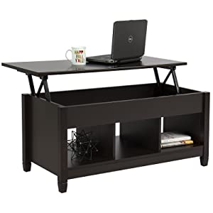 Best Choice Products Modern Home Lift Top Coffee Table Furniture w/Hidden Storage and Lift Tabletop - Espresso