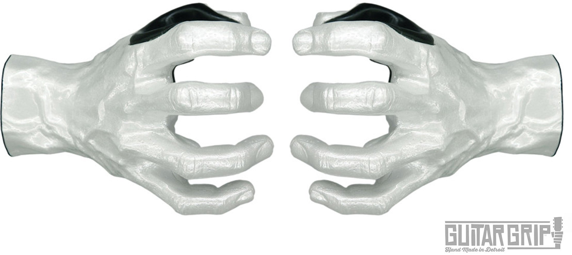Guitar Grip Studios 2 Pack Left and Right Hand White Pearl Guitar Hangers
