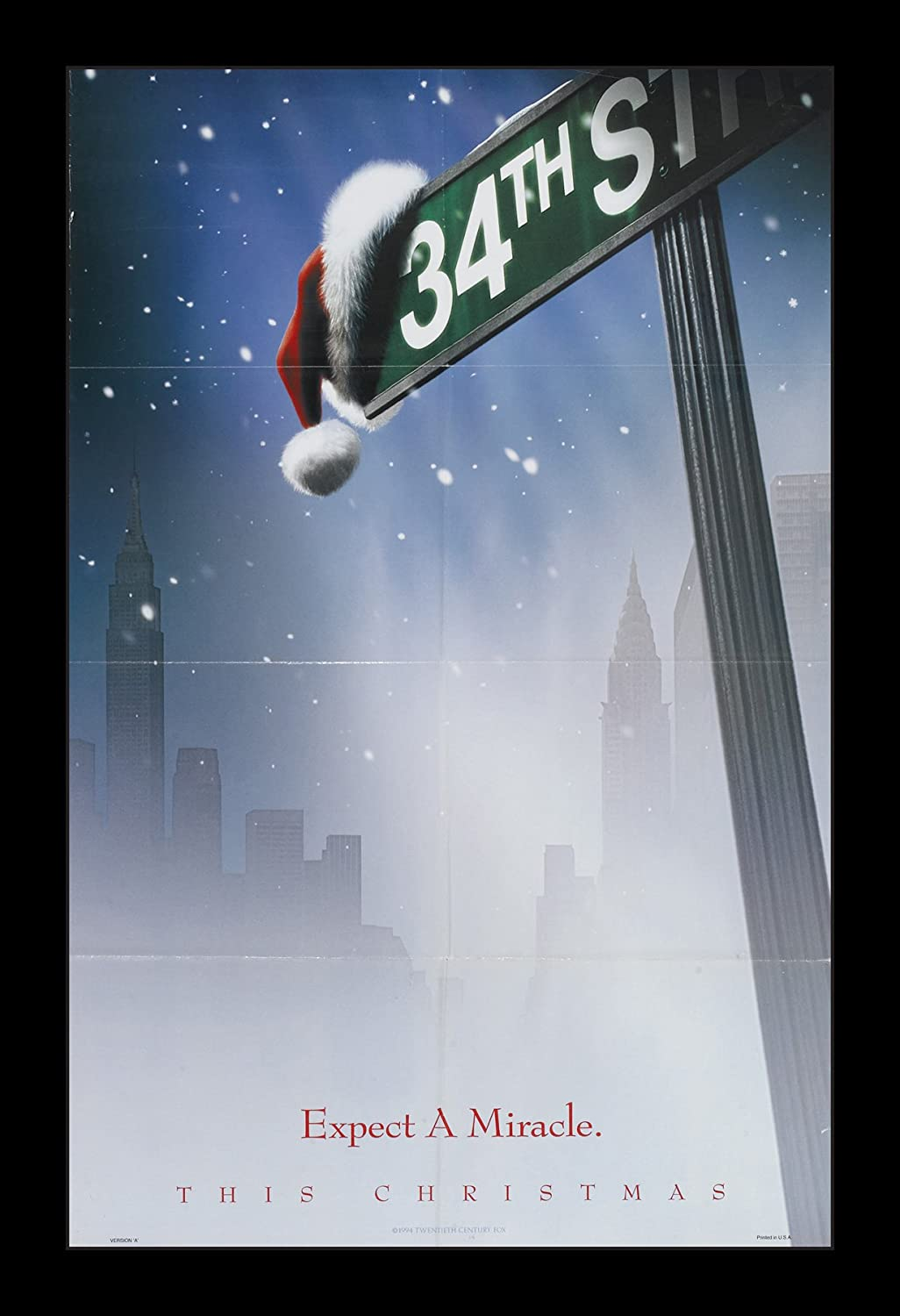 Wallspace Miracle On 34th Street - 11x17 Framed Movie Poster
