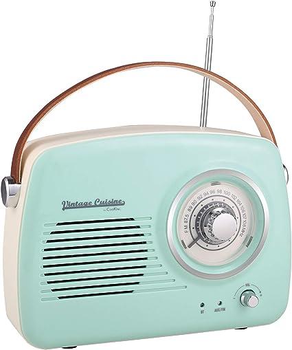 Vintage Cuisine Radio avec Bluetooth 4.1 (Mint):