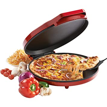 Betty Crocker BC-2958CR Pizza Maker, Red Bread Makers at amazon