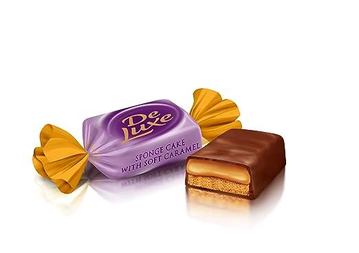 """""""DeLuxe"""" Bombón dulce de chocolate con caramelo de Roshen ..."""