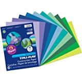 """Tru-Ray PAC102942BN Construction Paper, Cool Assorted, 9"""" x 12"""", 50 Sheets per Pack, 6 Packs"""