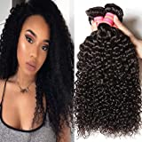 Beauty Forever Brazilian Virgin Remy Hair Curly Hair Weave 3-pack/lot Bundles Brazilian Unprocessed Human Virgin Remy Hair Extensions Nature Color (100+/-5g)/ Pc