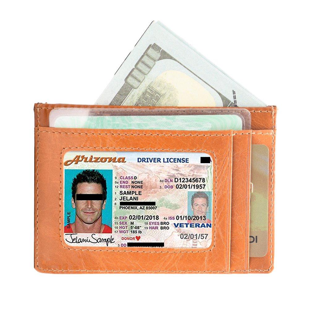 7765f5938 Carteras Tarjetas De Crédito RFID Bloqueo Hombre Mujer Tarjetero para  tarjetas de crédito Monederos Piel (