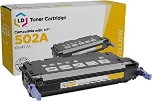 LD Remanufactured Toner Cartridge Replacement for HP 502A Q6472A (Yellow)