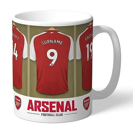 on sale eafa3 32764 Personalised Football Mug - Arsenal Football Club Dressing Room  Personalised Mug