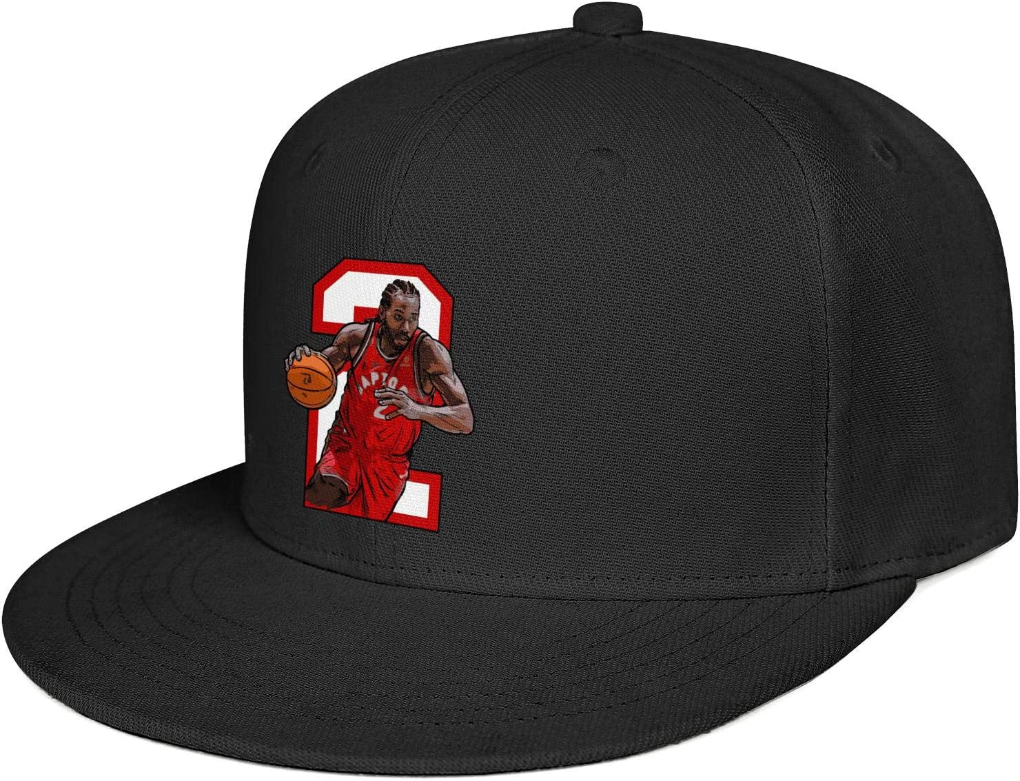 Haggai Romeo Unisex Kawhi-Leonard Photo Snapback Baseball Cap Flat Brim Hip Hop Hat Adjustable Dad Hat