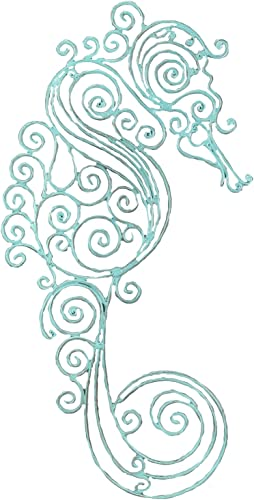 Young s Sea Horse Metal Wall Decor, 18.5-Inch
