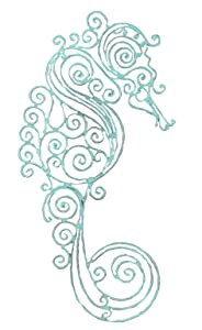 Young's Sea Horse Metal Wall Decor, 18.5-Inch