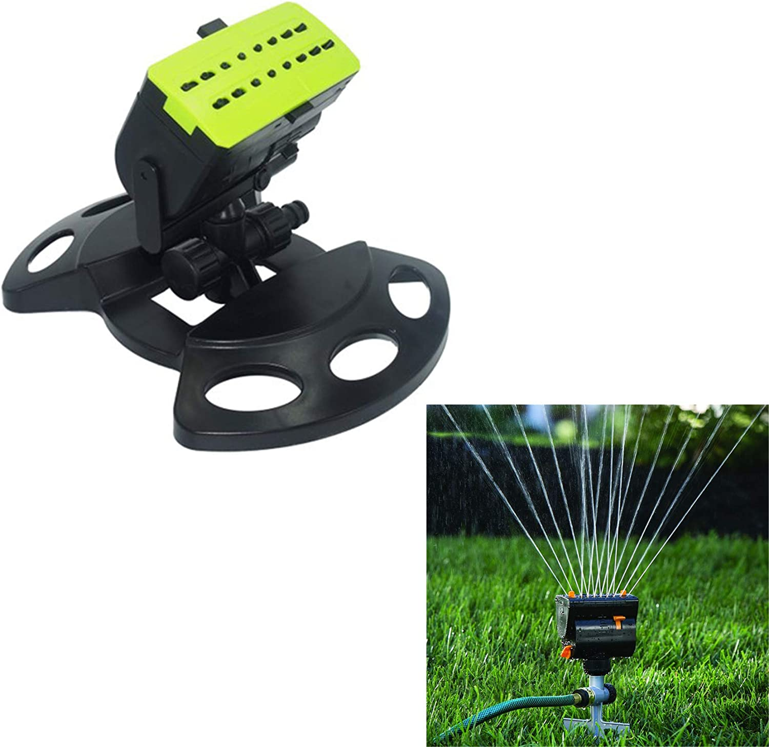 XIONGGG Garden Watering Sprinkler, Automatic Oscillating Lawn Sprinkler, for Yard Lawn Park Plant Flower Outdoor