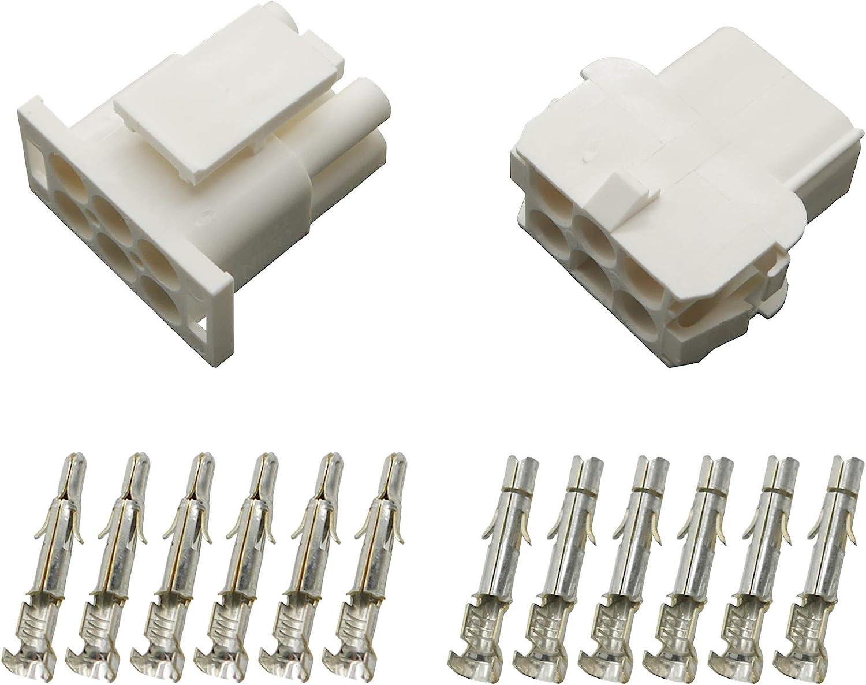Stecker Set Steckverbinder Universal Mate N Lok 6-polig incl Kontakten