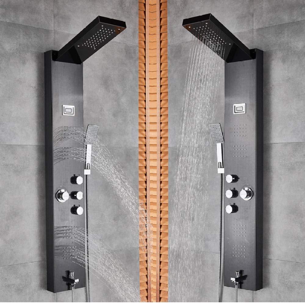 Níquel cepillado Panel de ducha de lluvia y cascada de acero ...