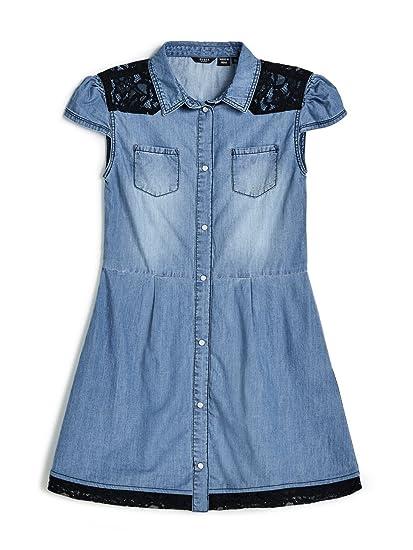 Et Dress BleuVêtements Accessoires Fille Robe Guess LqUMGjSpzV