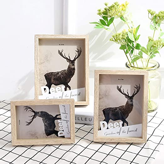 Amazon.com: Solid Wood Photo Frame Table Creative Wall ...