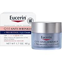 Eucerin Q10 Anti-Wrinkle Face Night Cream, Unscented 1.7 Ounce