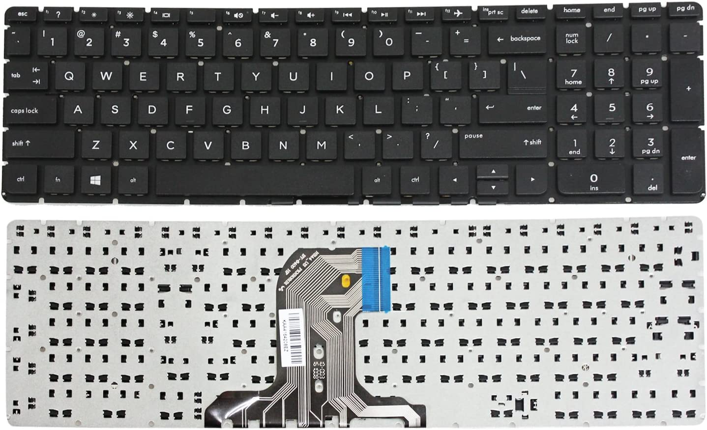 GinTai Laptop US Keyboard Replacement for HP 15-af131ca 15-af131dx 15-af135nr 15-af073nr 15-af074nr 15-af075nr 15-af113cl Without Frame