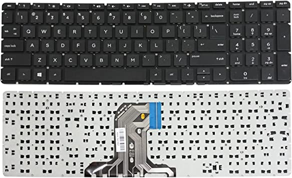 GinTai US Keyboard with Backlit Silver Replacement for HP 15-ab144cy 15-ab145cy 15-ab146cy 15-ab147cy 15-ab148cy 15-ab149cy 15-ab150cy 15-ab151cy US Stock
