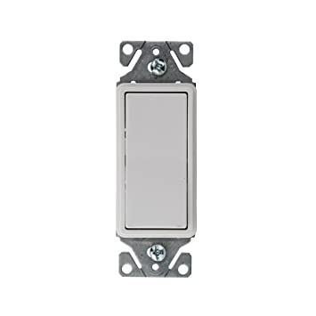cooper 7501w wiring devices decorator single pole switch 15a 120 rh amazon com
