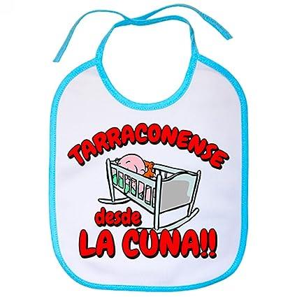 Babero Tarragonense desde la cuna Tarragoní Tarragona Nastic fútbol - Celeste