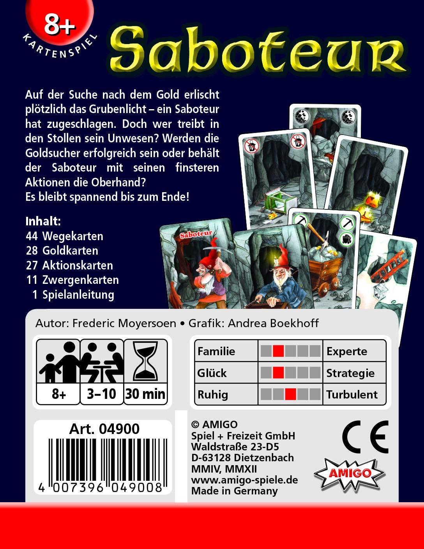 Amigo Games Ami18750 Saboteur Cardgame Flat River Group Amazon