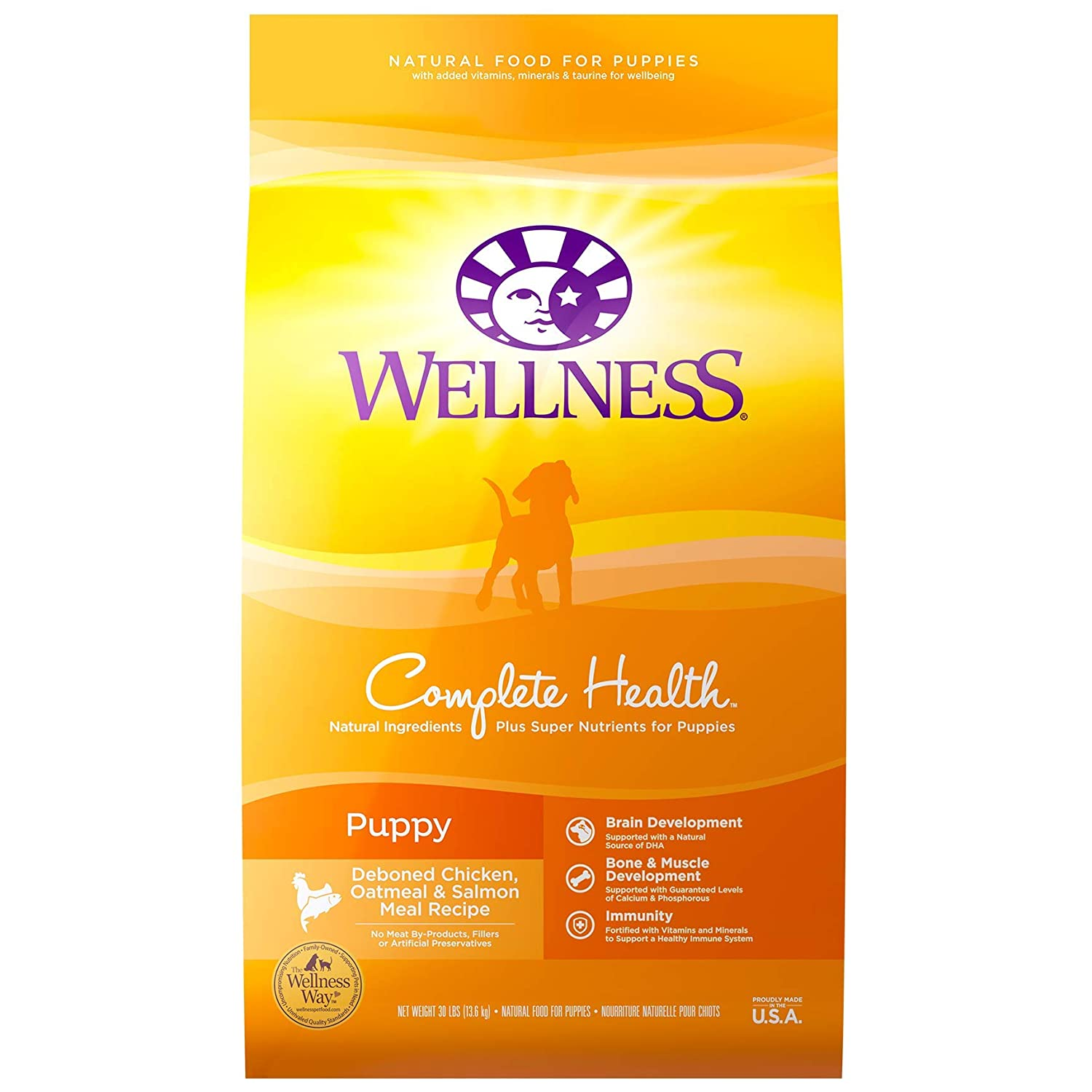 3.Wellness Complete Health Natural Dry Puppy Food