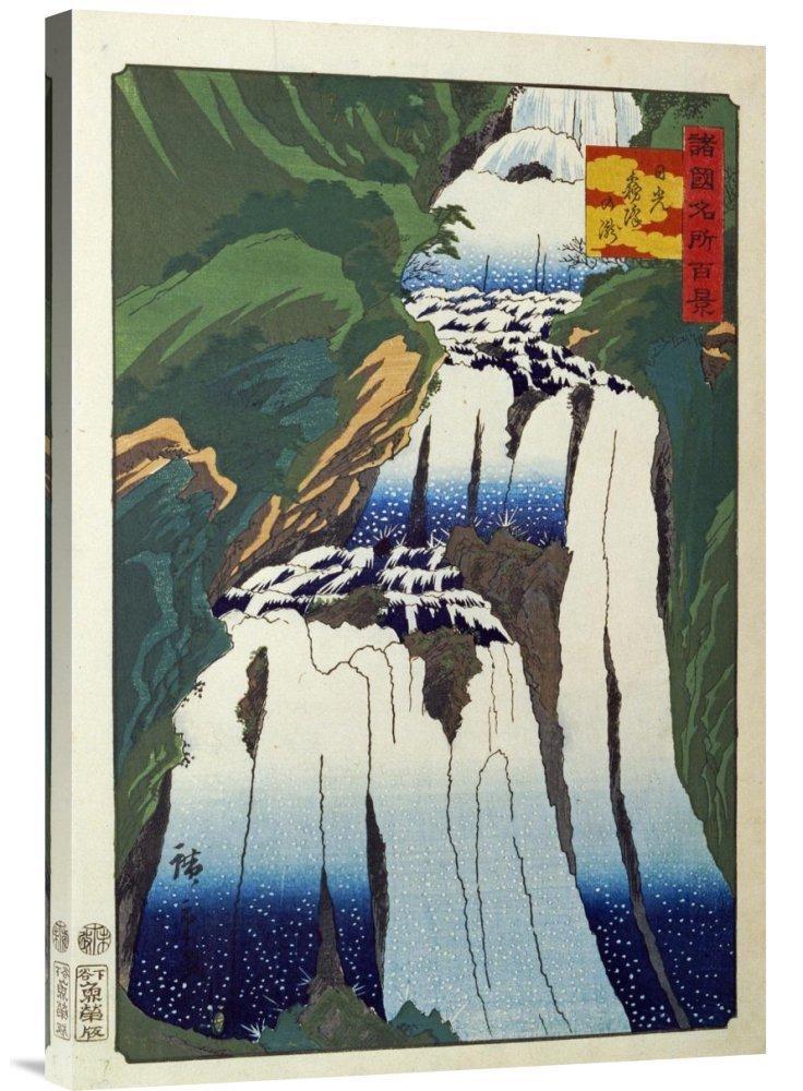Global Galerie Budget gcs-265005–76,2–360,7 cm Hiroshige The Mist Sprühen Wasserfall AT Nikko Gallery Wrap Giclée-Kunstdruck auf Leinwand Art Wand B01K1P6CF0 | Guter Markt