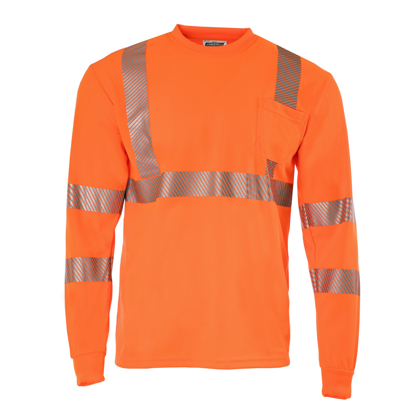 JORESTECH High Visibility Safety long sleeve shirt (Medium, Orange)