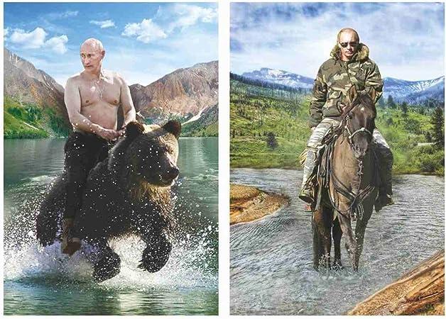 Fridge Magnet Vladimir Putin On Horseback Stereo Vario Image Changing Magnet 3 5 X 2 4 Amazon Co Uk Kitchen Home